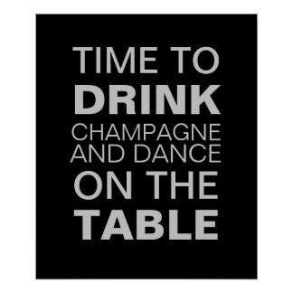 Gray Champagne Party Poster Poster