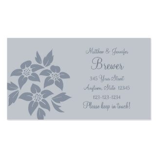 Gray Change of Address Contact Information Card Business Card