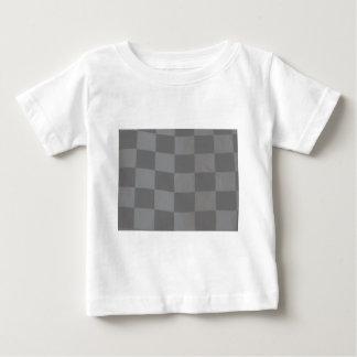 Gray Checkered Flag Baby T-Shirt