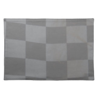 Gray Checkered Flag Cloth Placemat