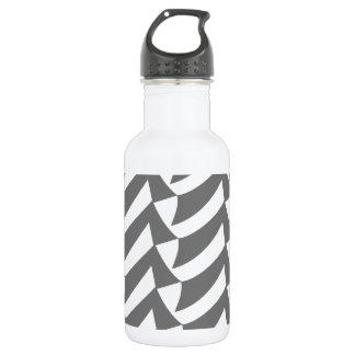 Gray Checks Water Bottle