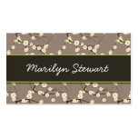 Gray Cherry Blossoms Business Cards