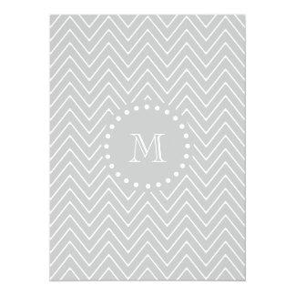 gray chevron 2A gray circle new.png 5.5x7.5 Paper Invitation Card