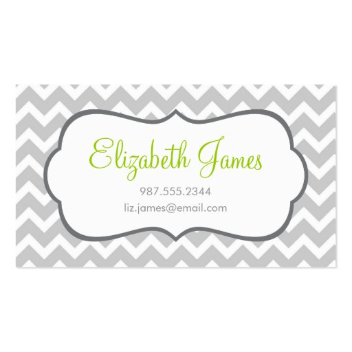 Gray Chevron Double Sided Standard Business Cards Pack