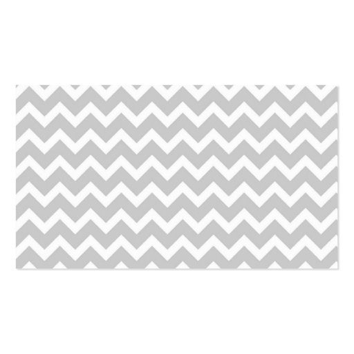 Gray Chevron Business Card Templates (back side)