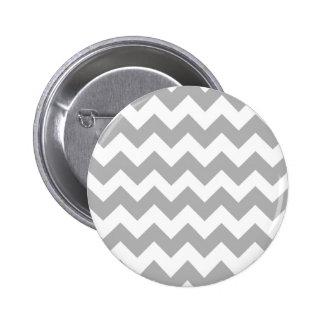 Gray Chevron Logo Pinback Button