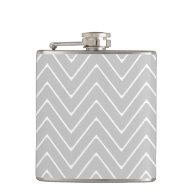 Gray Chevron Pattern Flasks