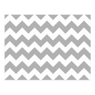 Gray Chevron Pattern Postcard