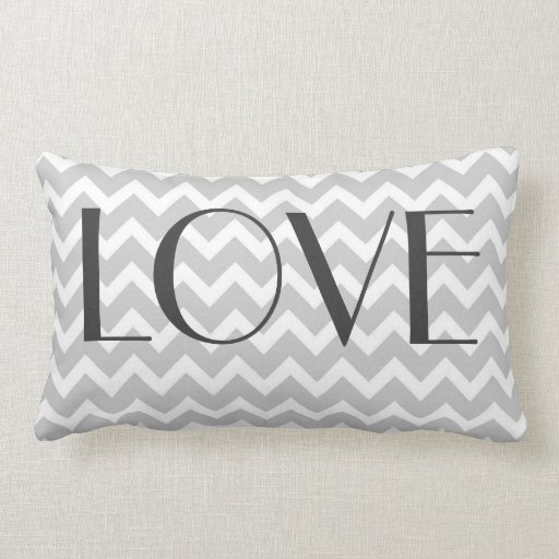 Gray Chevron Pillow