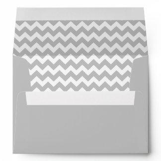 Gray Chevron Print Envelope