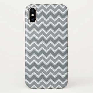 Gray Chevron Striped iPhone X Case