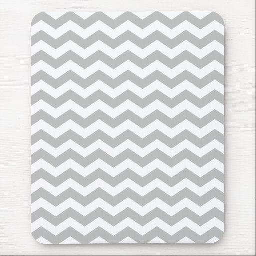 Gray Chevron Stripes Mousepads