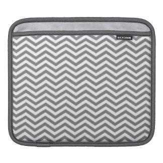 Gray Chevron Stripes Sleeve For iPads