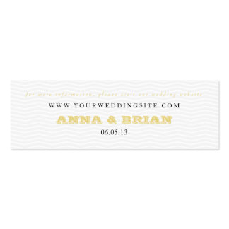 gray chevron wedding website card in Golden Rod Double-Sided Mini Business Cards (Pack Of 20)