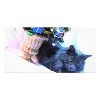 Gray Christmas Card