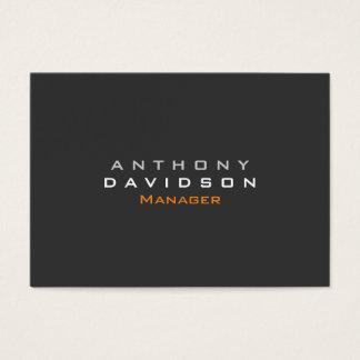 Gray Chubby Modern Trendy Business Card