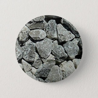 gray chunks of rock button