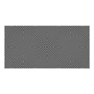 Gray circles design. Modern Pattern. Photo Cards