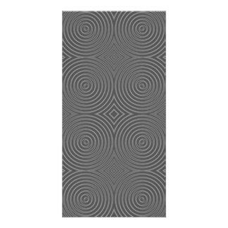 Gray circles design. Modern Pattern. Personalized Photo Card