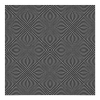 Gray circles design. Modern Pattern. Posters