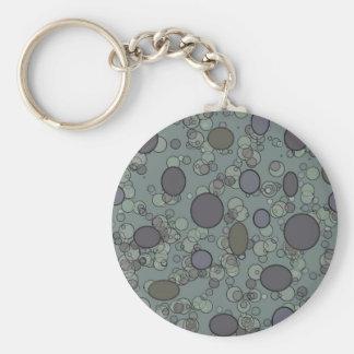 Gray circles keychains