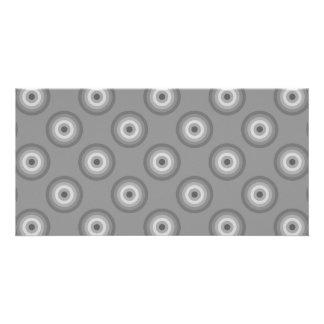 Gray Circles Pattern. Photo Cards
