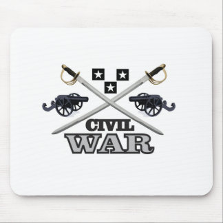 gray civil war cannons mouse pad
