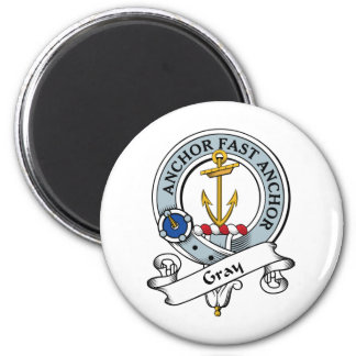 Gray Clan Badge 2 Inch Round Magnet