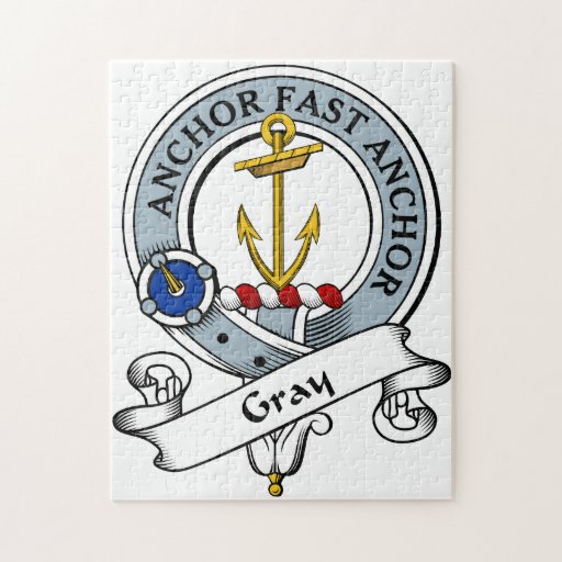 Gray Clan Badge Jigsaw Puzzle
