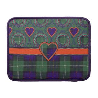 Gray clan Plaid Scottish kilt tartan MacBook Sleeve
