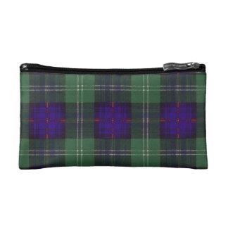 Gray clan Plaid Scottish kilt tartan Makeup Bag