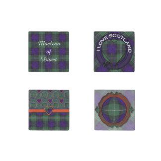 Gray clan Plaid Scottish kilt tartan Stone Magnet