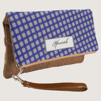 Gray Clover Ribbon by Kenneth Yoncich Clutch