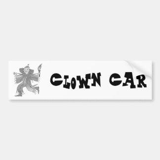 Gray clown with torch bumper sticker