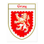 Gray Coat of Arms/Family Crest Postcard