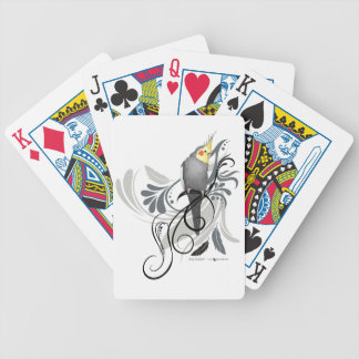 Gray Cockatiel Bicycle Playing Cards