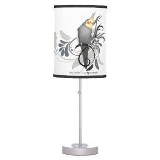 Gray Cockatiel Desk Lamp