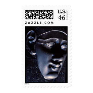 Gray colored sculpture of human face Egyptian art Postage Stamps