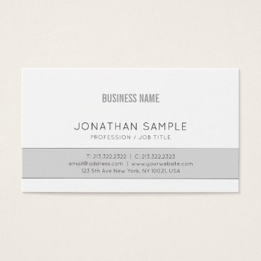 Gray Company Plain Professional Elegant Design Business Card