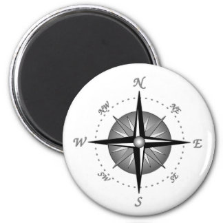 Gray Compass Rose Magnets