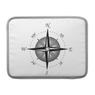 Gray Compass Rose Sleeves For MacBook Air