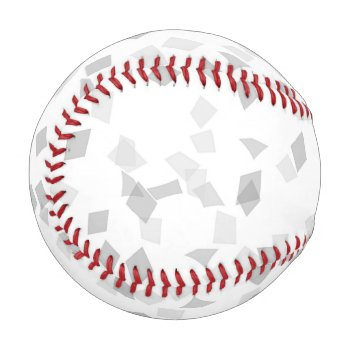 Gray Confetti Baseball