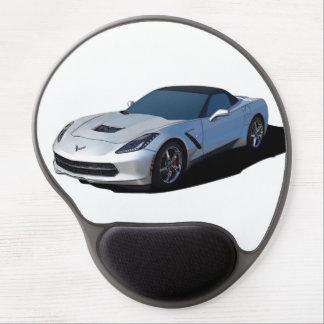 Gray Corvette mouse pad