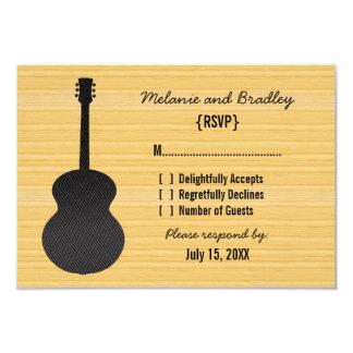 Gray Country Guitar Response Card Custom Invite