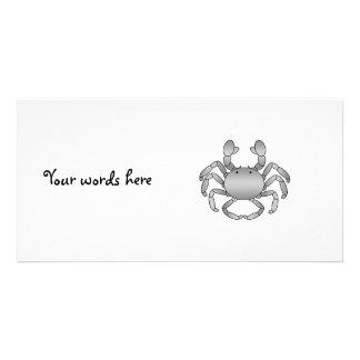 Gray crab photo card