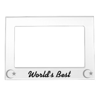 Gray  Crescent & Star.png Magnetic Picture Frame