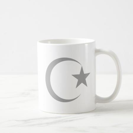 Gray  Crescent & Star.png Mugs