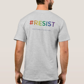 Gray Crew-Neck Tee - #RESIST [Pride]