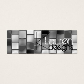 gray cubes skinny business card
