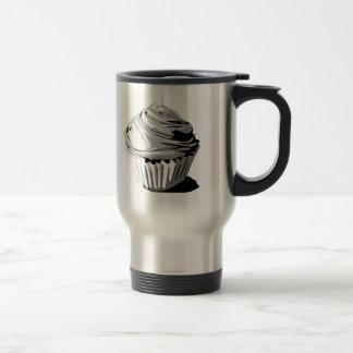 Gray cupcake travel mug